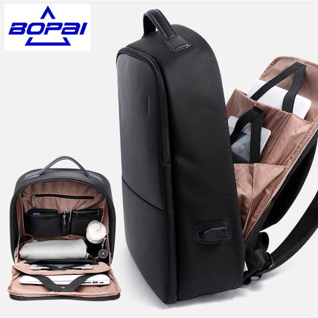 Популярные Дизайн Для мужчин рюкзак Дорожные сумки с USB Порты и разъёмы Водонепроницаемый высокое качество анти Резка мужской большой рюкзак большой Черный Mochila