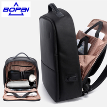 Popular Design Men Backpack Travel Bags with USB Port Waterproof High Quality Anti Cutting Male Big Backpack Large black mochila