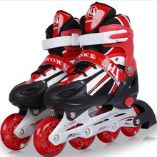 Kid's Roller Skates Shoes Athletic Roller Shoe for Children PU Material Skating Shoes All Wheels Flash L348(China)