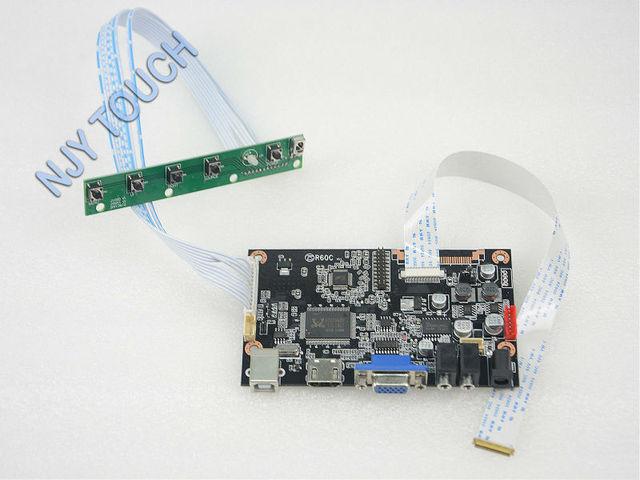 Frete grátis VGA HDMI Placa Controladora para LCD B140HAN01 eDP 2 Lanes 30 pinos LCD 14 polegada 1920x1080 3WLED