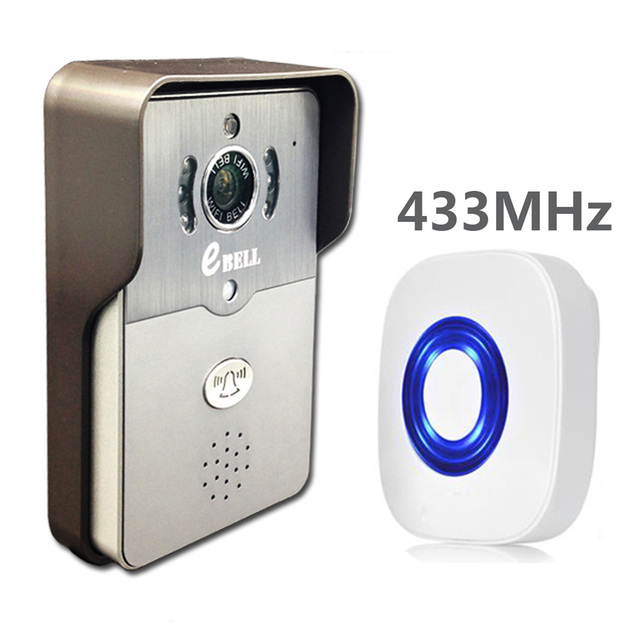 With 433Mhz Indoor Bell WIFI Video Door Phone  720P IP Doorbell