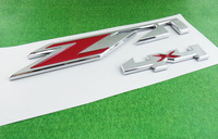 2 X Auto Car Chrome Red Z71 4x4 For Tahoe Silverado Suburban Sierra Emblem Badge