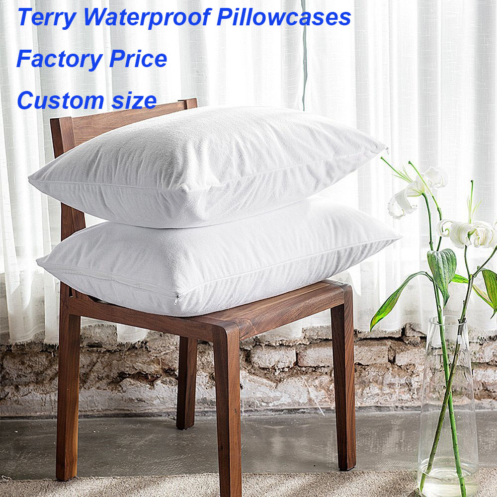 Amazing Us 9 08 32 Off One Piece 50X70Cm Waterproof Zippered Pillow Protector Bed Bug Pillow Cover Protects Against Dust Mite White Terry Pillowcase In Theyellowbook Wood Chair Design Ideas Theyellowbookinfo