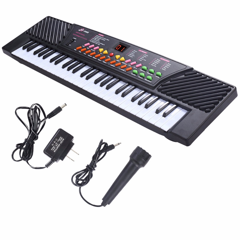 buy new 54 keys music electronic keyboard kid electric piano organ w mic. Black Bedroom Furniture Sets. Home Design Ideas