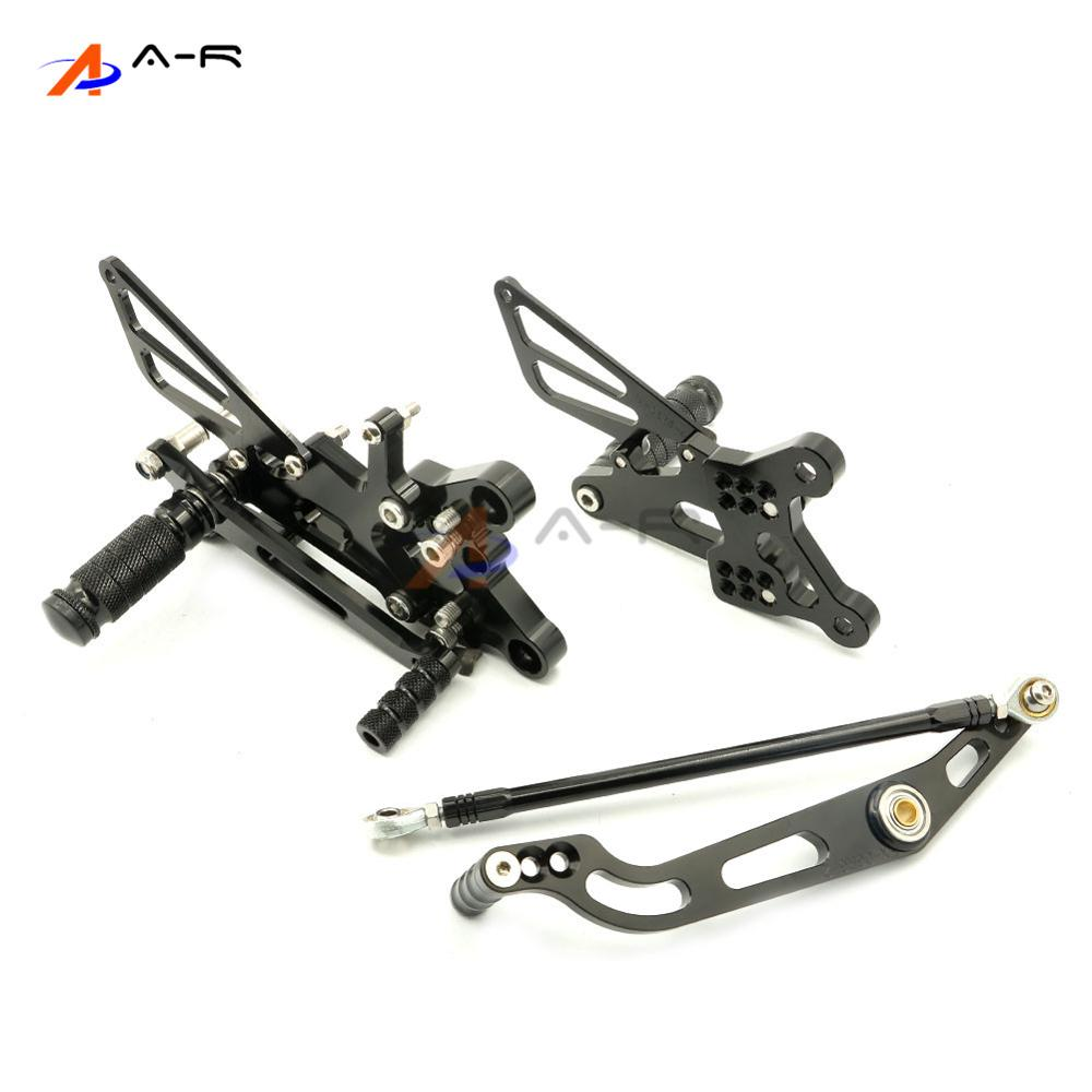Black CNC Adjustable Rearsets Footrest Foot Pegs Rear Sets for Yamaha YZF R6 2006-2015 2014 2013 2012 2011 2010 2009 2008 2007 free shipping motorcycle parts silver cnc rearsets foot pegs rear set for yamaha yzf r6 2006 2010 2007 2008 motorcycle foot pegs