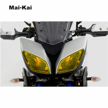 MAIKAI FOR YAMAHA MT-09 TRACER 2016-2018 900/GT 2019 Motorcycle Headlight Protector Cover Shield Screen Lens
