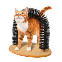 1 PCS Cat hair dryer pet scratching equipment arched pet cat self beauty supplies round wool base cat toy brush AP11061705
