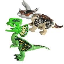купить Single Sale Tyrannosaurus Rex Dinosaur Bricks Set Model Building Blocks Children Gift Toys дешево