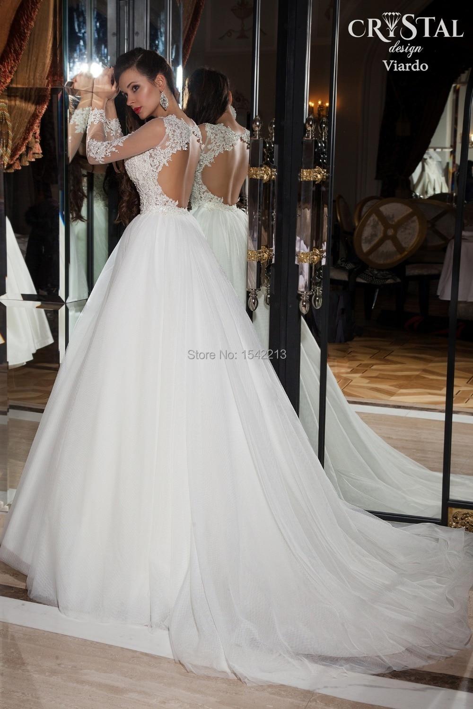 d0b9d1fb8c Vestidos de novia manga larga y espalda descubierta - Vestidos baratos