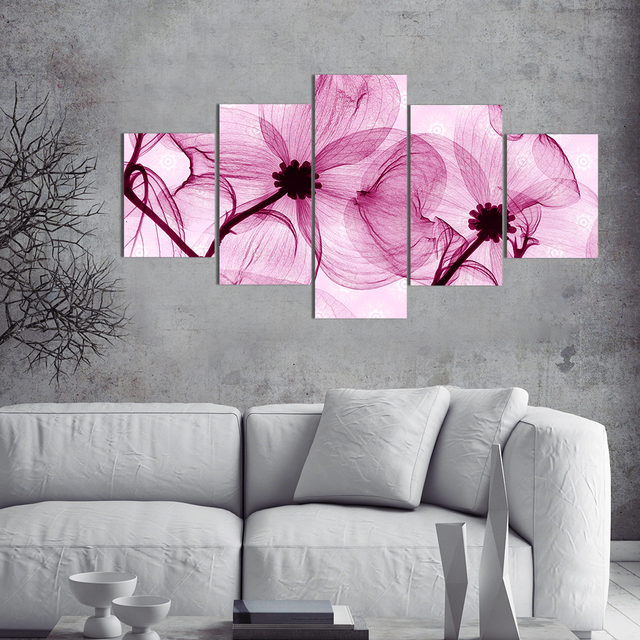 Pretty Pink Flowers Wall Art Canvas Prints Painting Modern Canvas ...