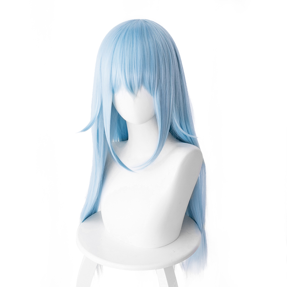 That Time I Got Reincarnated As A Slime Cosplay Wig Rimuru Tempest Wig 70cm Long Straight Heat Resistant Synthetic Hair Blue