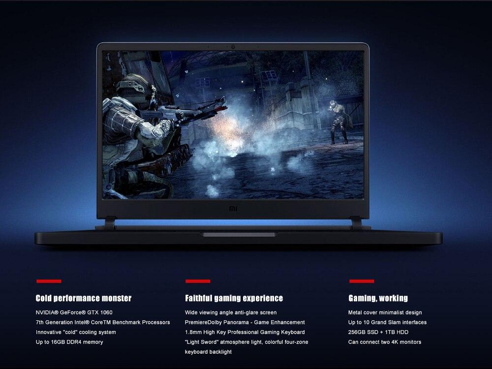 "Aliexpress.com : Buy Xiaomi Laptop 8GB+128GB SSD i7 7700HQ 15.6"" Windows 10 Chinese Version"