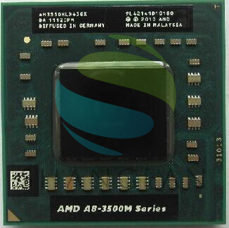 цена AMD A8-Series for Notebooks A8-3550MX AM3550HLX43GX A8 3550MX Quad Core/2.0G/4M Socket FS1 722-pin Laptop CPU Processor