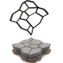 Горячая Распродажа, форма для сада, камня, дороги, бетонного тротуара, сделай сам, Пластиковая форма для изготовления дорожек, ручная мощение цементного кирпича, Molds50* 50*4,4 см