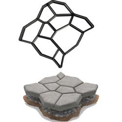 Hot sale Garden Stone Road Concrete Pavement Mold, DIY Plastic Path Maker Mold Manually Paving Cement Brick Molds50*50*4.4cm