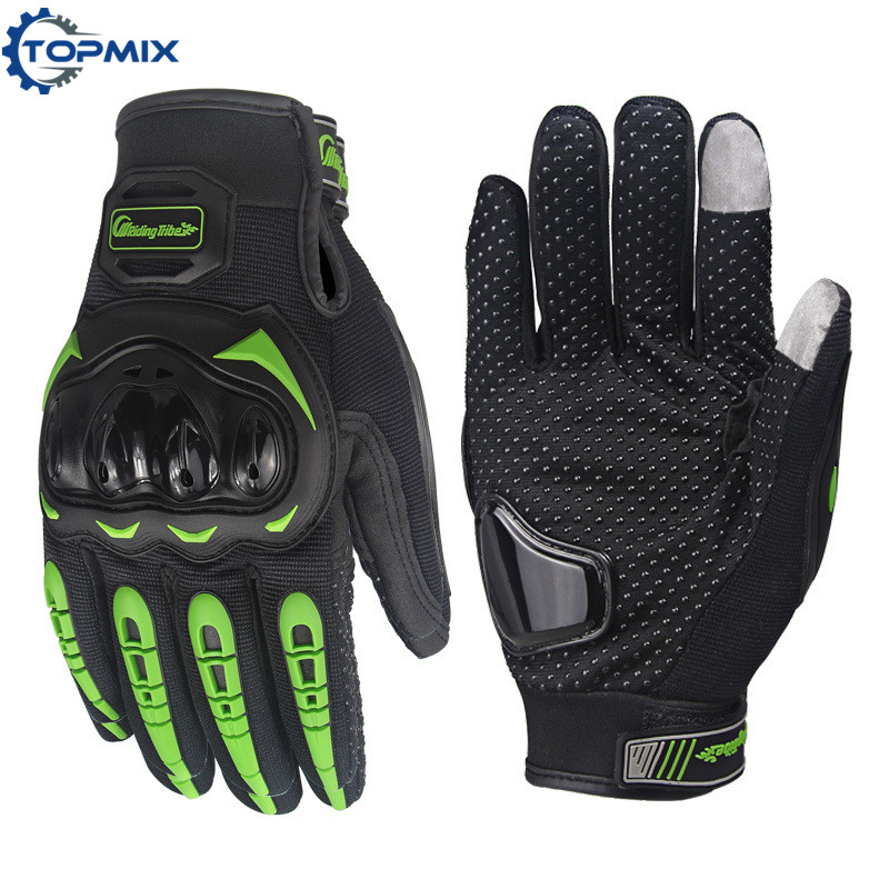 Screen Touch Motorcycle Gloves Green 1