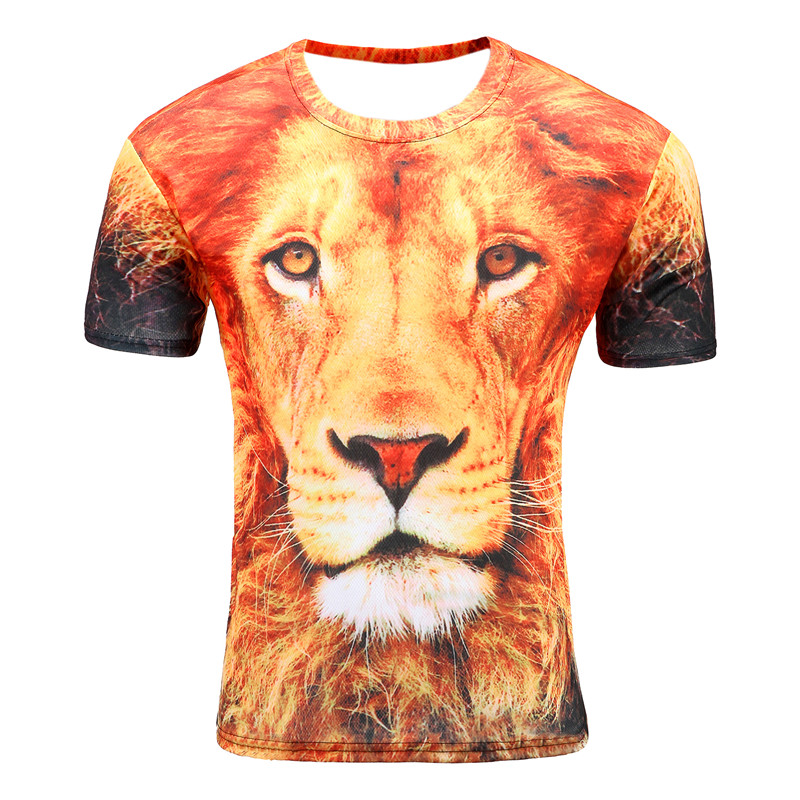 T-shirt för män Anime Fashion Men 3d T-shirt Lion King Summer - Herrkläder - Foto 1