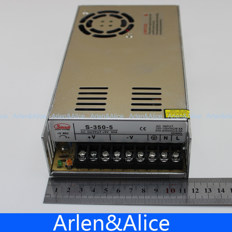 350W 5V 50A Single Output Switching power supply for LED Strip light AC to DC aliexpress com buy 350w 5v 50a single output switching power  at sewacar.co
