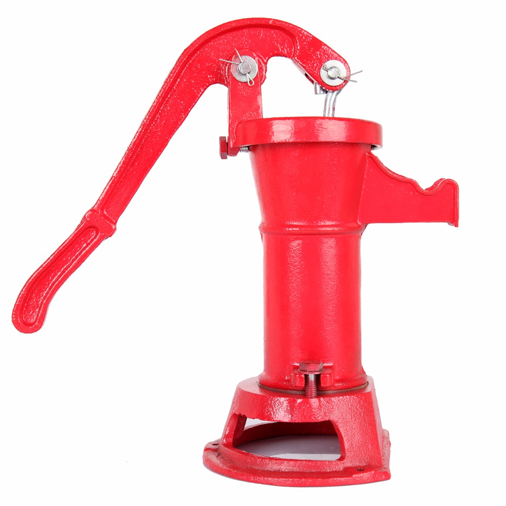 Ship from USA) Hand Pump Cast Iron Well Water Pitcher Press Suction ...