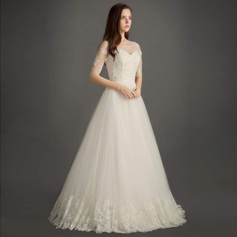 Princesa Тюль See Through Кружева Vestido De Novia Boda Роскошные Бисер складки Свадебные платья А брак Фея Свадебные платья