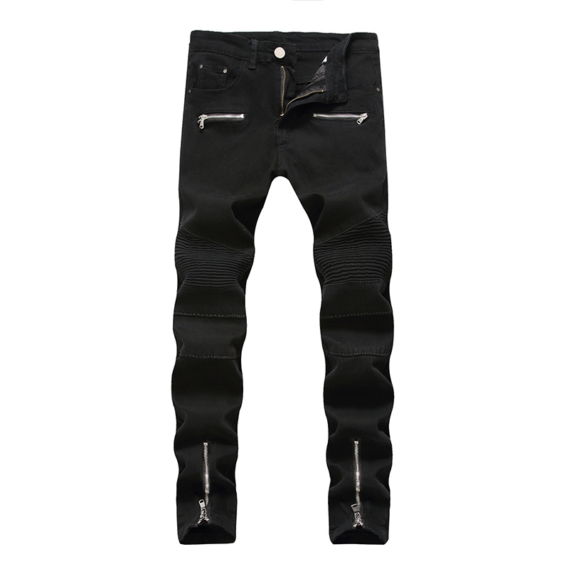 Jeans Men Hip Hop Male Pants Mens Classic jeans Clothes 2018 Fashion Black Skinny Jeans Men Streetwear Trousers With Stripes