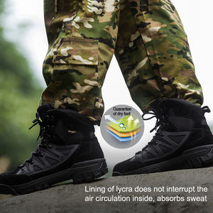Image 4 - Soldat gratuit Sports de plein air tactiques hommes bottes, chaussures de randonnée pour la montagne, chaussures pour le Camping, escalade en cuir importé