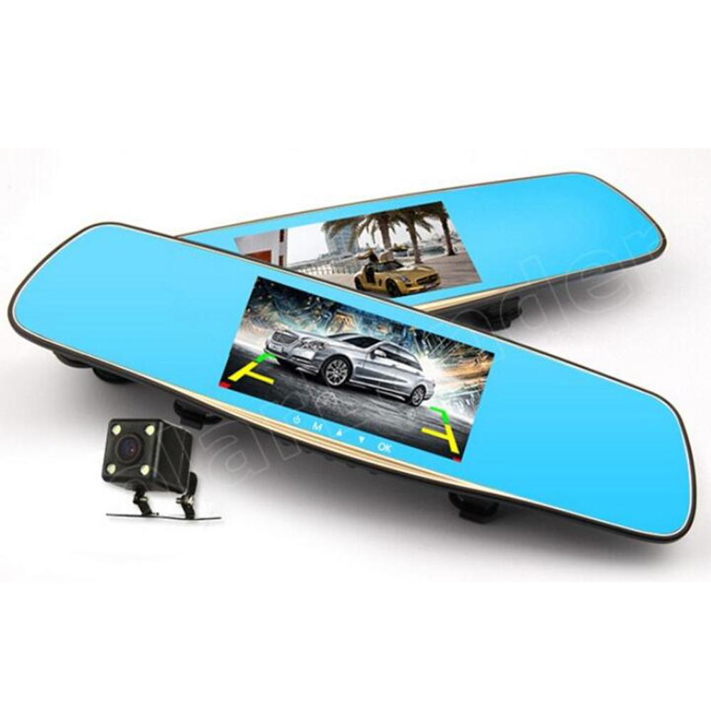 Car Dvr Camera Camcorder Rearview-Mirror Dual-Lens Registrar Night-Vision Full-Hd New