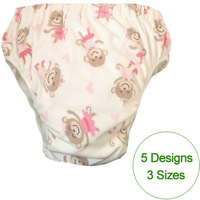 5 Patterns Chioce Waterproof Adult Cloth Diaper Cover Nappy Nappies Adult Diaper Pants With InsertS M