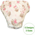 5 patterns chioce  waterproof Adult cloth diaper cover Nappy nappies adult diaper pants  with insertS M L