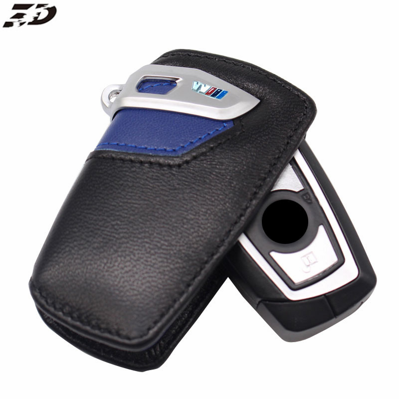 Genuine Leather Keychain Car Key Cover Case For Bmw F30 F20 F10 F31 2 3 4 5 6 Series X3 X4 320I 116I 328I 530I Key Case For BMW