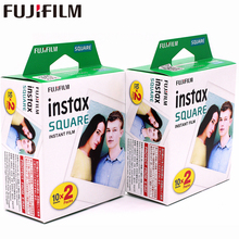2018  Fujifilm Instax 2 boxes 20 Sheet SQUARE White Edge film Photo paper For Instax SQUARE SQ10 Hybrid share sp-3 SQ Camera цена и фото