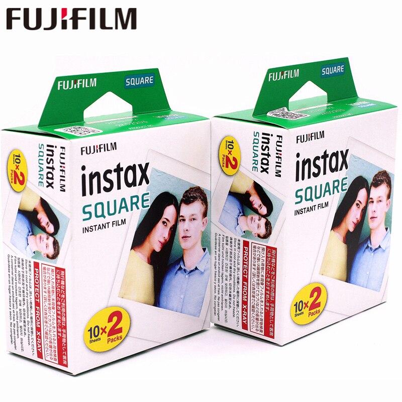 2018 Fujifilm Instax 2 boîtes 20 Feuille CARRÉ Blanc Bord film Photo papier Pour Instax CARRÉ SQ10 Hybride part sp-3 SQ Caméra