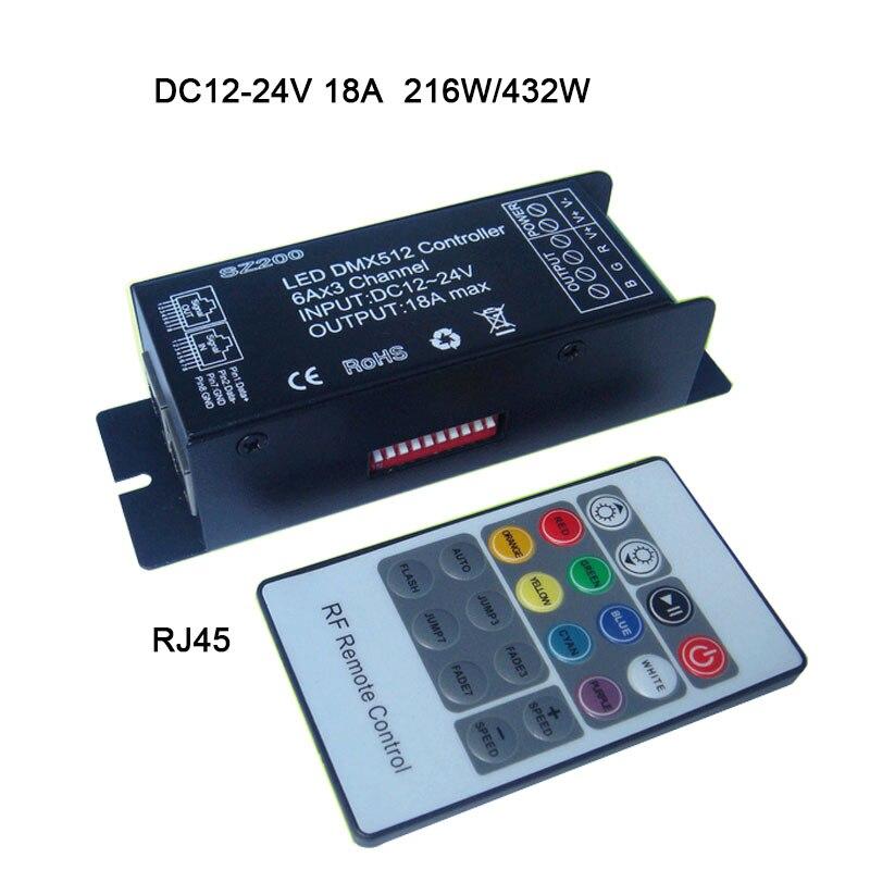 Lampe Verkaufspreis Modul Licht Dmx512 Decoder Dc12-24v 6a * 3 Kanal 18a Led Controller 20key Wireless Rf Fernbedienung Für Rgb Led Streifen String