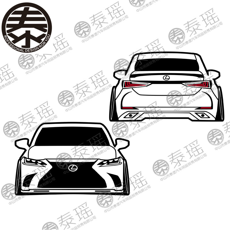 TAIYAO Car Styling Sport Car Sticker For Lexus ES 2PCS  Car Accessories And Decals Auto Sticker