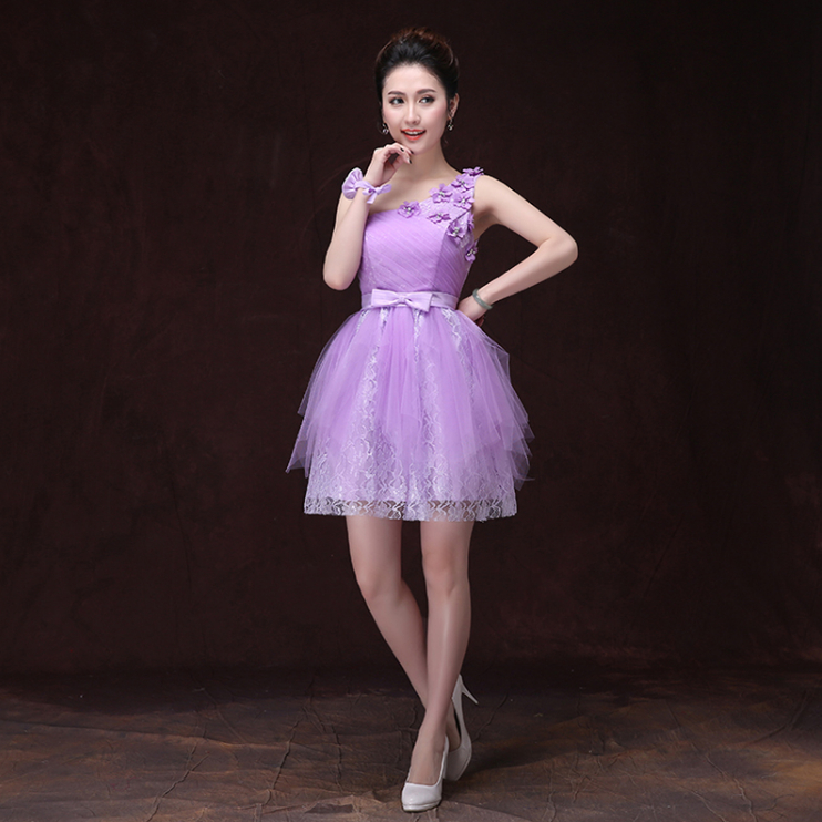 Popular Beautiful Short Purple Prom Dress-Buy Cheap Beautiful ...