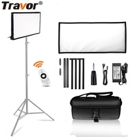 Travor LED Video Light FL 3060 Flexible Panel Light 30*60CM Daylight 5500K For Studio Photography Light With 2.4G Remote Control