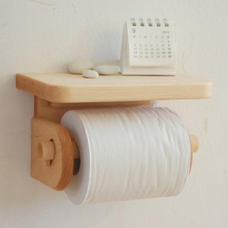 A1 Solid wood free punching tissue box roll holder toilet paper holder toilet tube LO62545 creative smily towel tissue plastic tube box holder blue white
