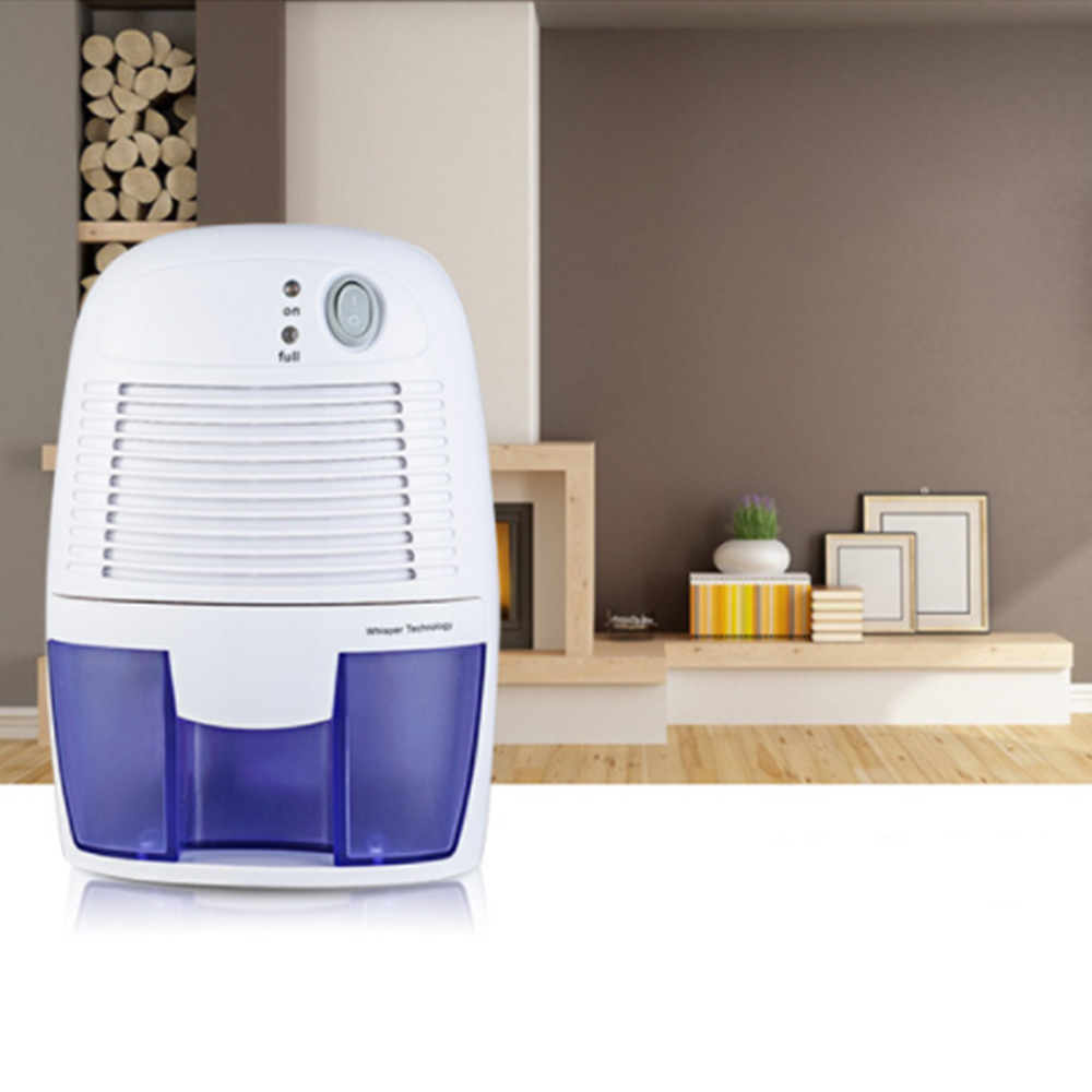 Mini Dehumidifier Air Dryer Moisture Absorber Electric Cooling Dryer 500ML For Home Bedroom Kitchen Office