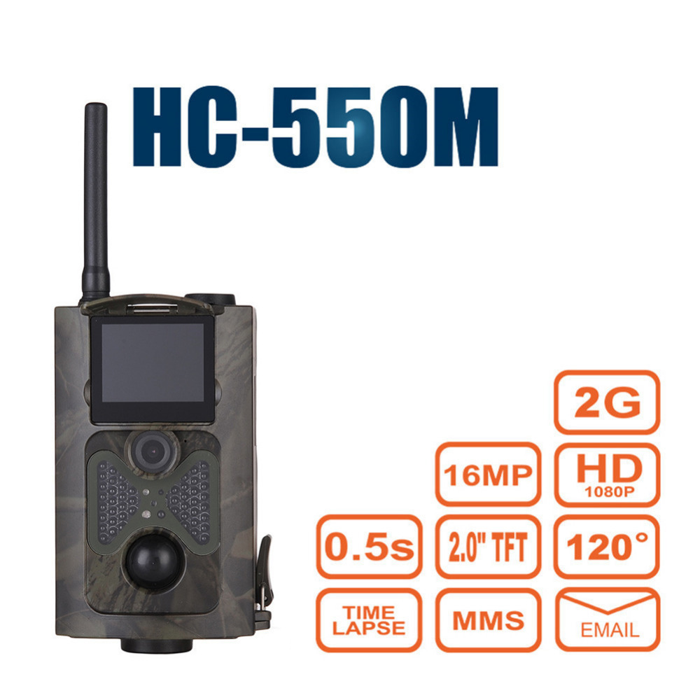 HC 550M Night Vision Hunting Camera Infrared Photo Trap Chasse 120 Degrees Wild Hunter Game Trail Sensor Gsm Mms Wildlife Camera цены