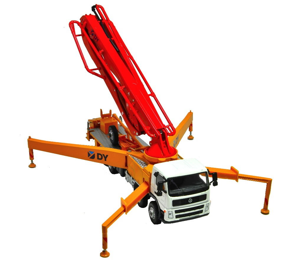 1 50 DY Truck mounted concrete cement pump toy