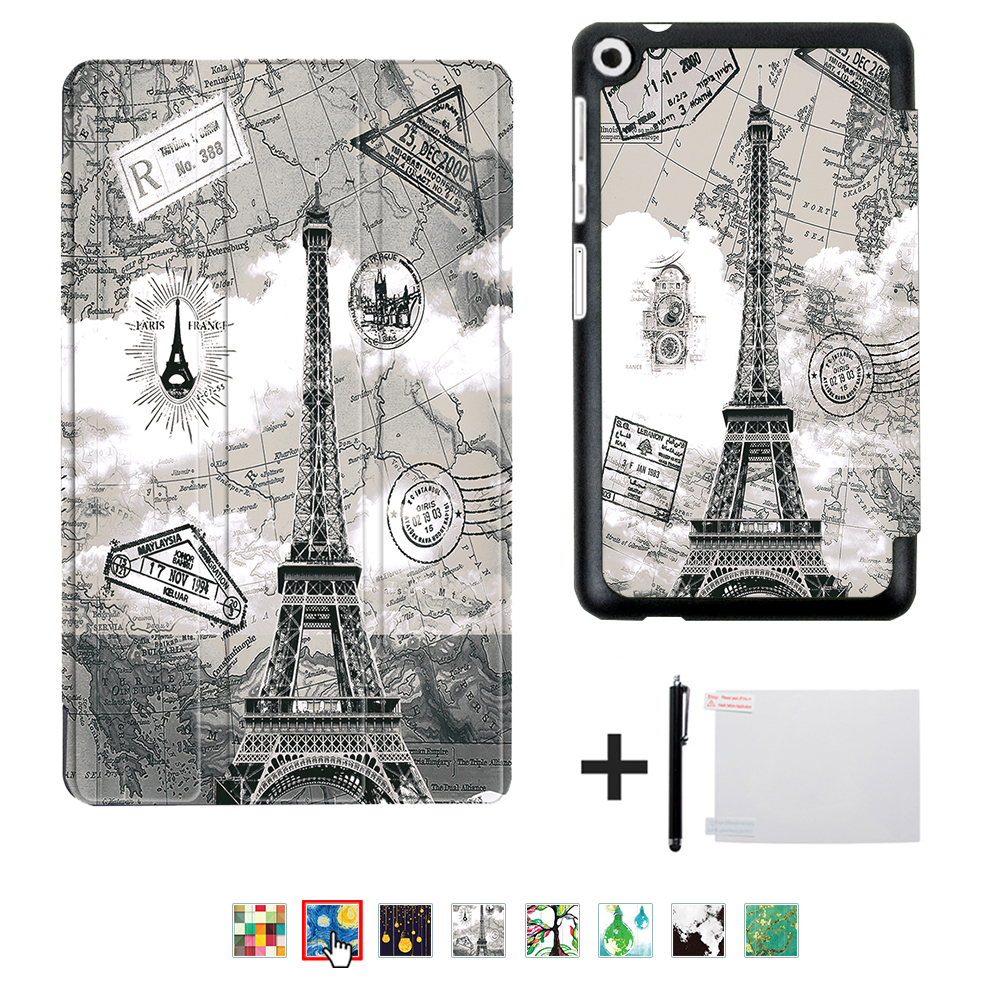 Ultra slim printed protective cover skin for Huawei MediaPad T3 8.0 KOB-L09 KOB-W09 for 8'' Tablet PC for Honor Play Pad 2 8.0 folio slim cover case for huawei mediapad t3 7 0 bg2 w09 tablet for honor play pad 2 7 0 protective cover skin free gift