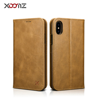 XOOMZ Vintage Wallet Case Book Design And Magnetic Closure With Folio Leather Cover And Stand Card