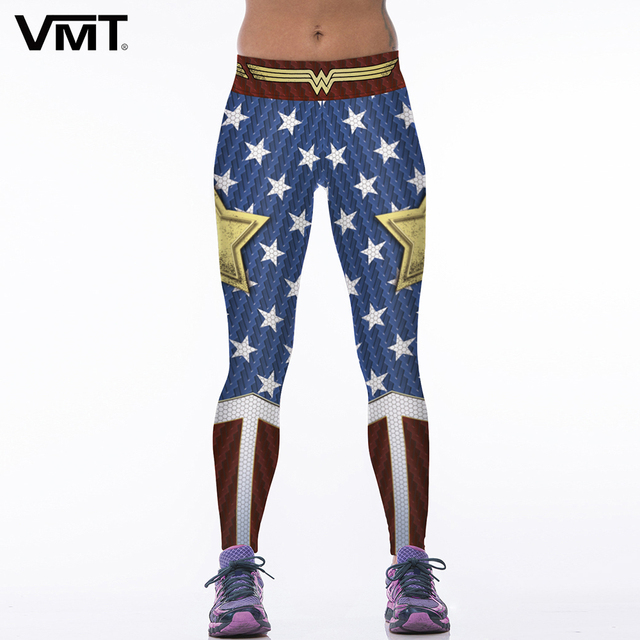 d75b0682af6 VMT Sexy Leggings Women Superhero 3D Digital Printing Exercise Pants  Legging Skinny Leggings Brand New Female