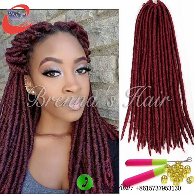 18 Inch Beautiful Burgundy Braiding Hair Havana Twist Faux Locs
