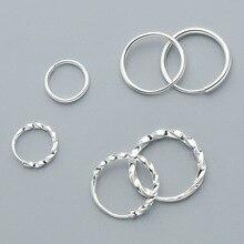 Fashion Trendy Women Hoop Earrings Fine Jewelry Simple 990 S