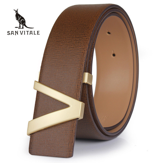 Belt 2016 Hot sale Fashion Cowhide Leather men belt Designer Luxury Famous Brand High quality buckle men Belts for business men