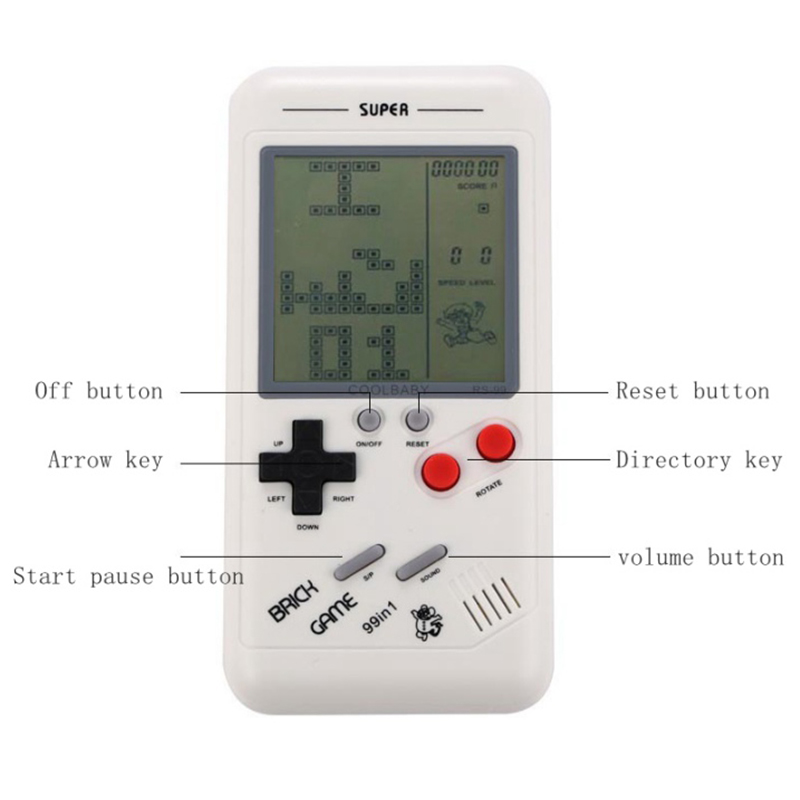 Mini Handheld Game Console Classic Game Players for Children Students Classic Nostalgia Puzzle Built-in Variety of Games