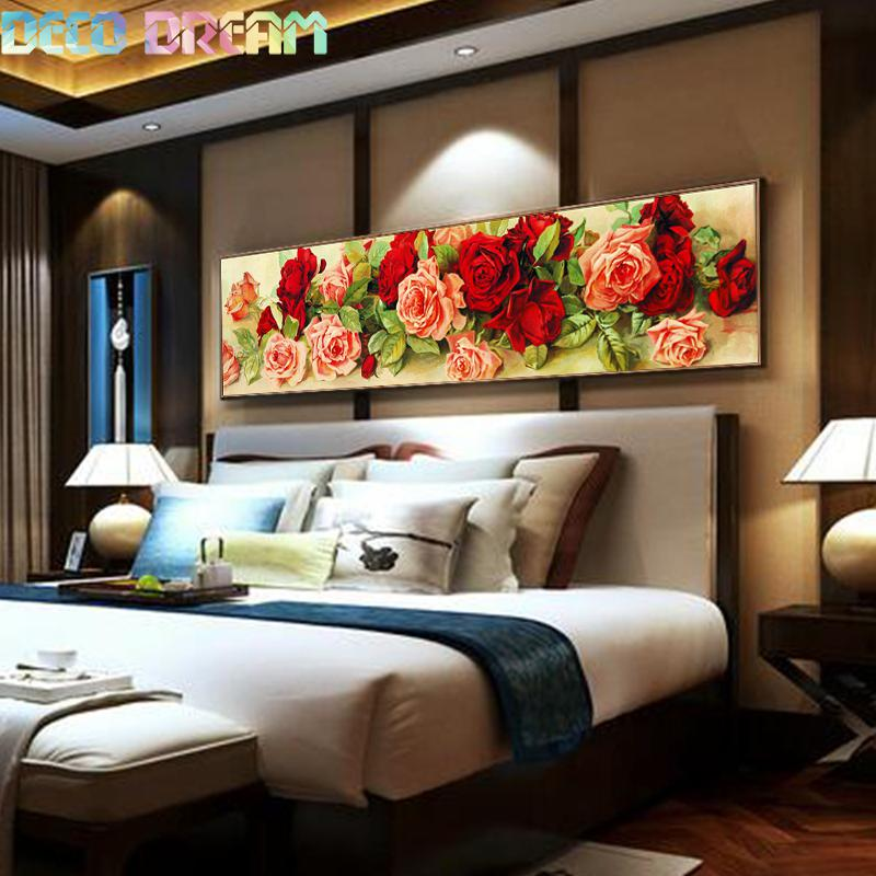 Full Diamond Painting Fortune Comes With Blooming Flowers Diy Diamond Embroidery European Style For Living Room Gift For Family