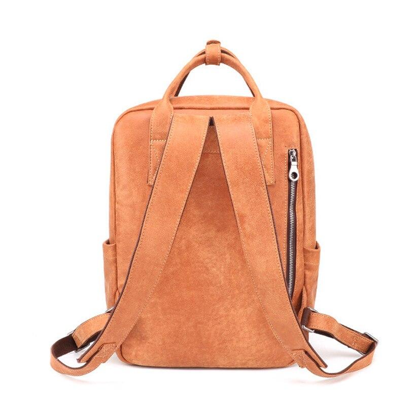 Открытый Досуг сумка 2019 новый мужской кожаный рюкзак большой емкости рюкзак ретро прочный рюкзак для путешествий мужская сумка - 3