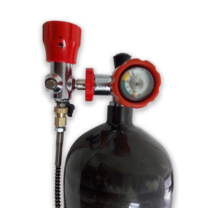 Image 5 - AC368101 Gauge valve & fill station & 6.8L 60min 300bar 4500psi GB Paintball Carbon Fiber cylinder /Tankairsoft Air Guns/Rifle
